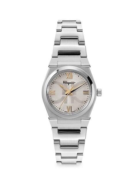 Vega Pair Silvertone Stainless Steel Bracelet Watch