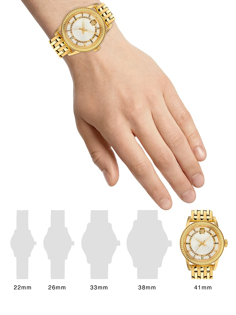 VERSACE Bracelets CODE GOLDTONE STAINLESS STEEL BRACELET WATCH
