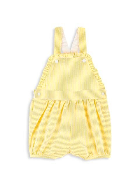 Baby Girl's Seersucker Overalls