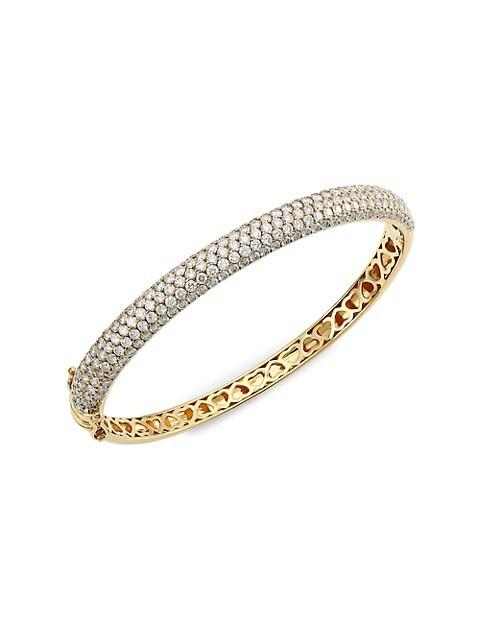 Marcie 14K Yellow Gold & Diamond Bangle
