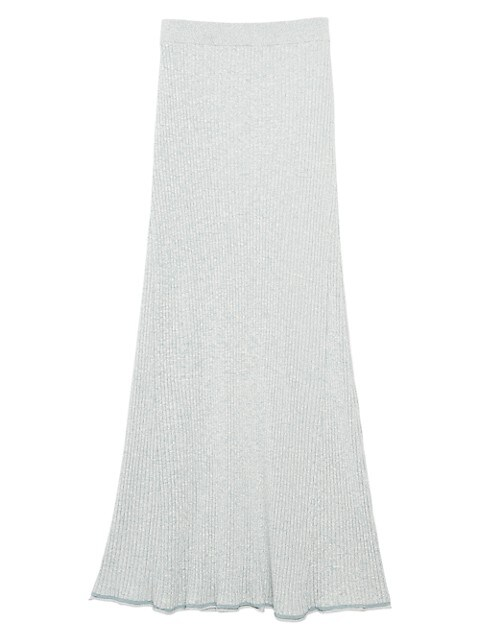 Mouline Ribbed Maxi Skirt