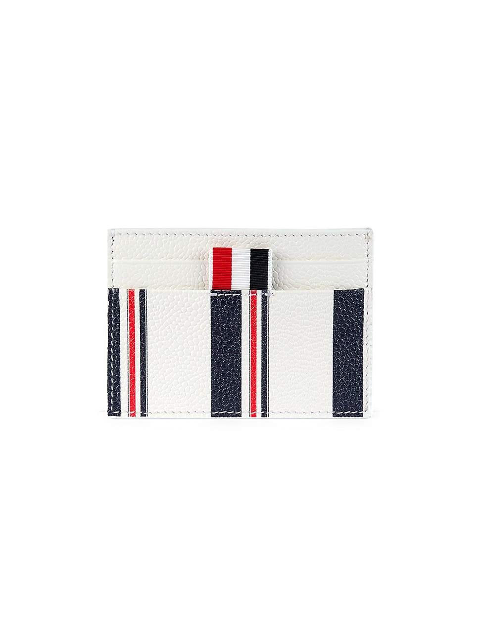 THOM BROWNE MEN'S DOUBLE-SIDED LEATHER CARD CASE