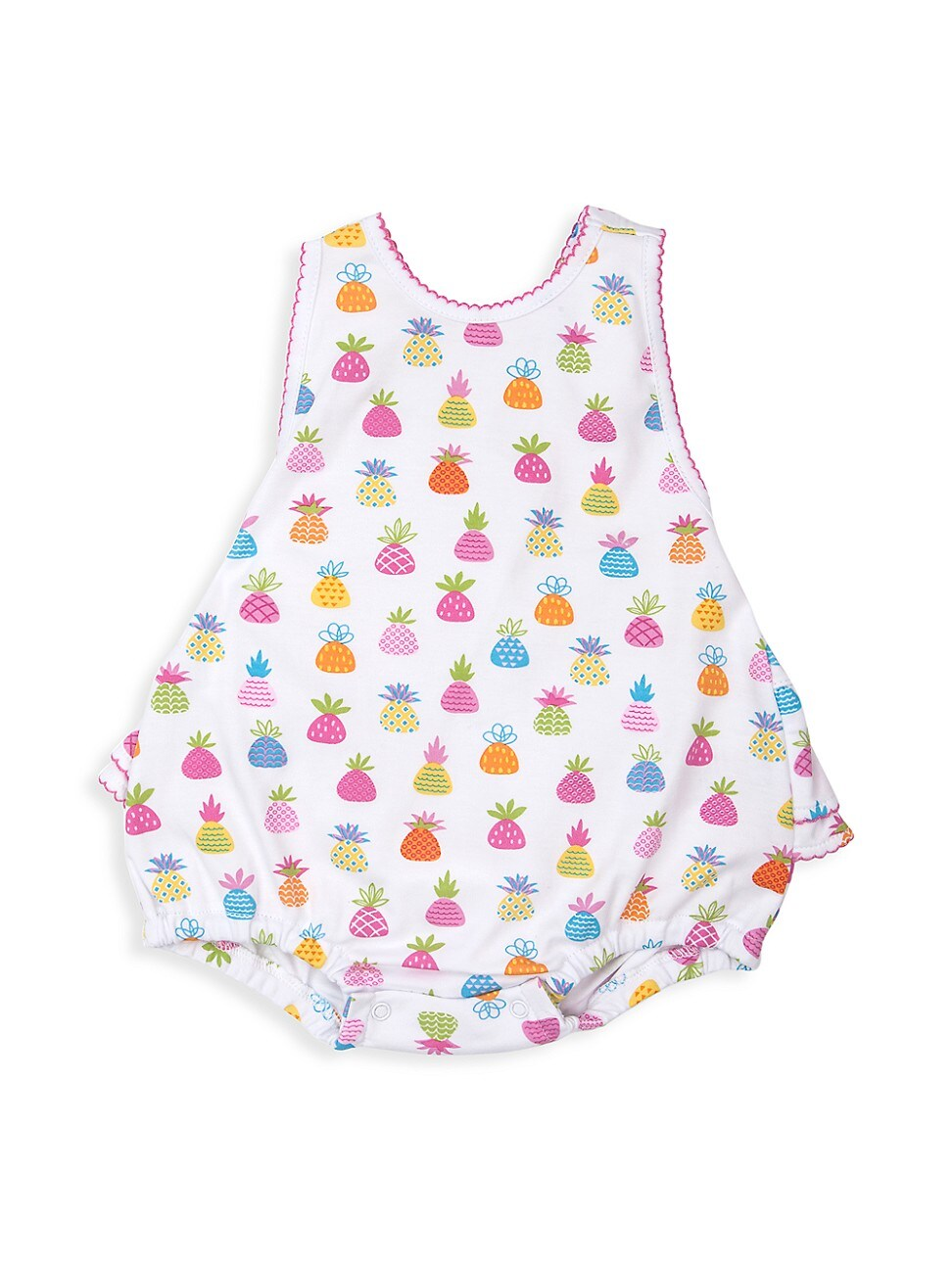Kissy Kissy Cottons BABY GIRL'S PINEAPPLE ISLAND PRINT PIMA COTTON BUBBLE