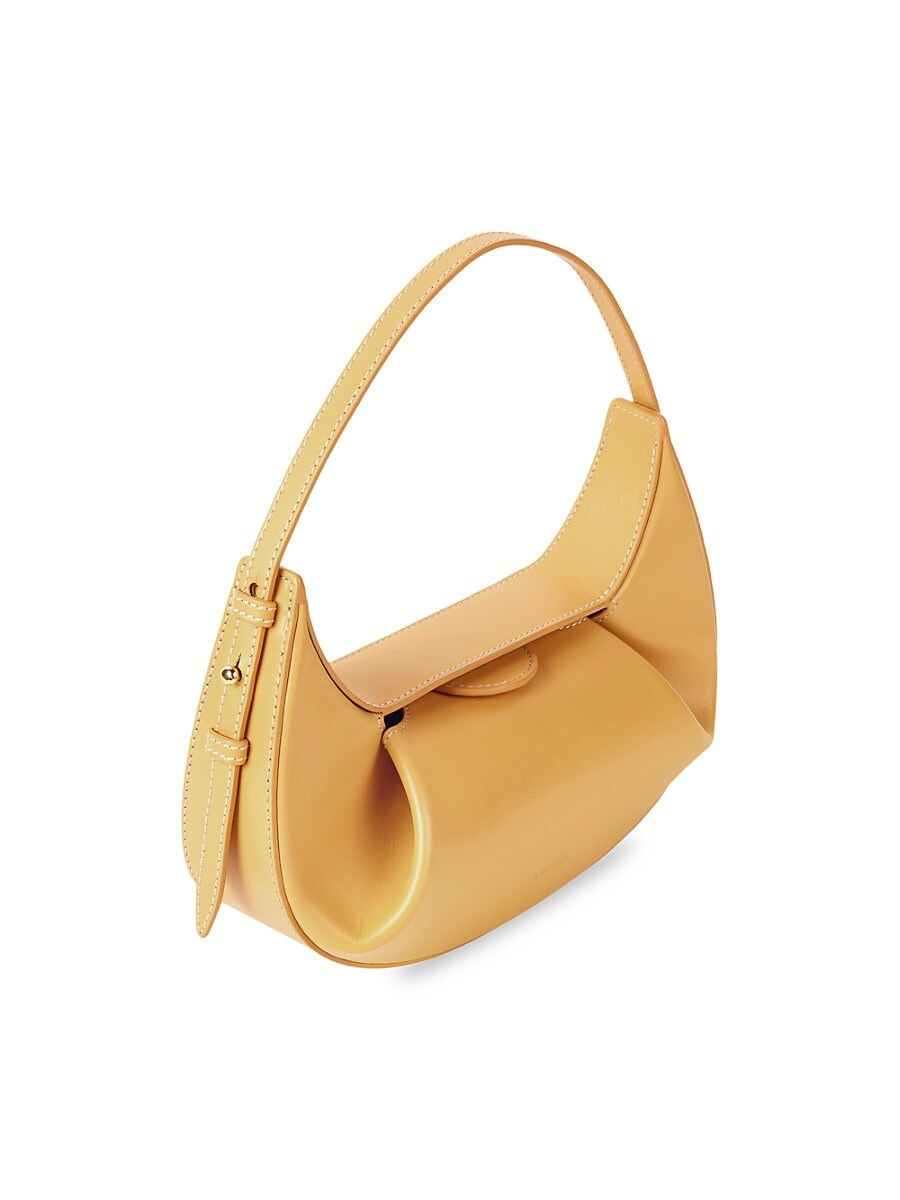 YUZEFI Leathers WOMEN'S MINI FORTUNE COOKIE LEATHER SHOULDER BAG