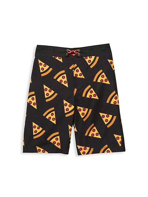 Little Boy's & Boy's Pizza Swim Trunks