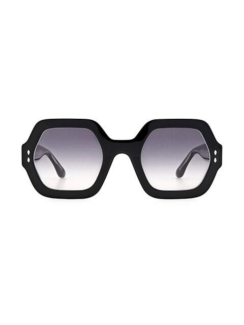 Ely 61MM Hexagonal Sunglasses
