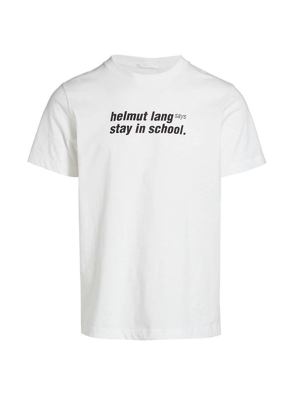 Helmut Lang MEN'S SCHOOL GRAPHIC T-SHIRT