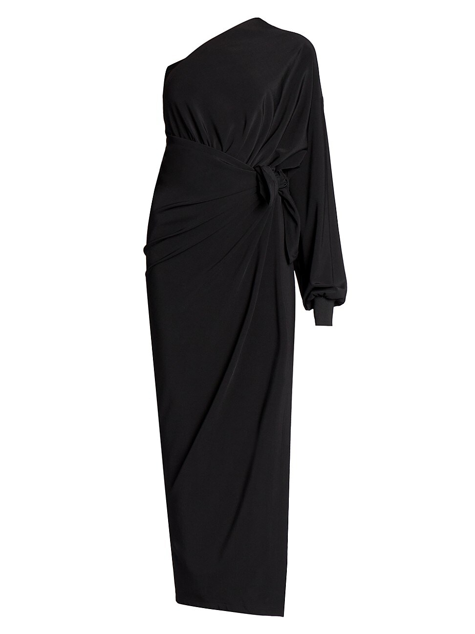 Balenciaga WOMEN'S ONE-SHOULDER KNOTTED WRAP DRESS
