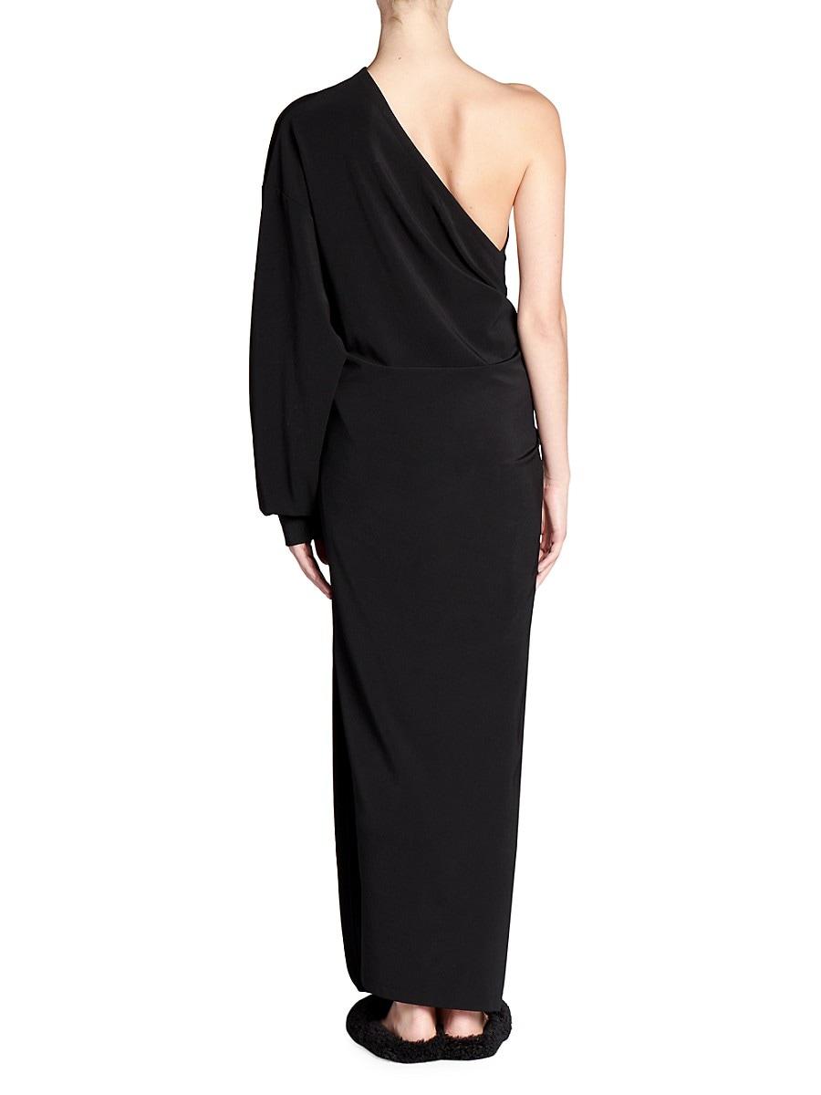 BALENCIAGA Dresses WOMEN'S ONE-SHOULDER KNOTTED WRAP DRESS