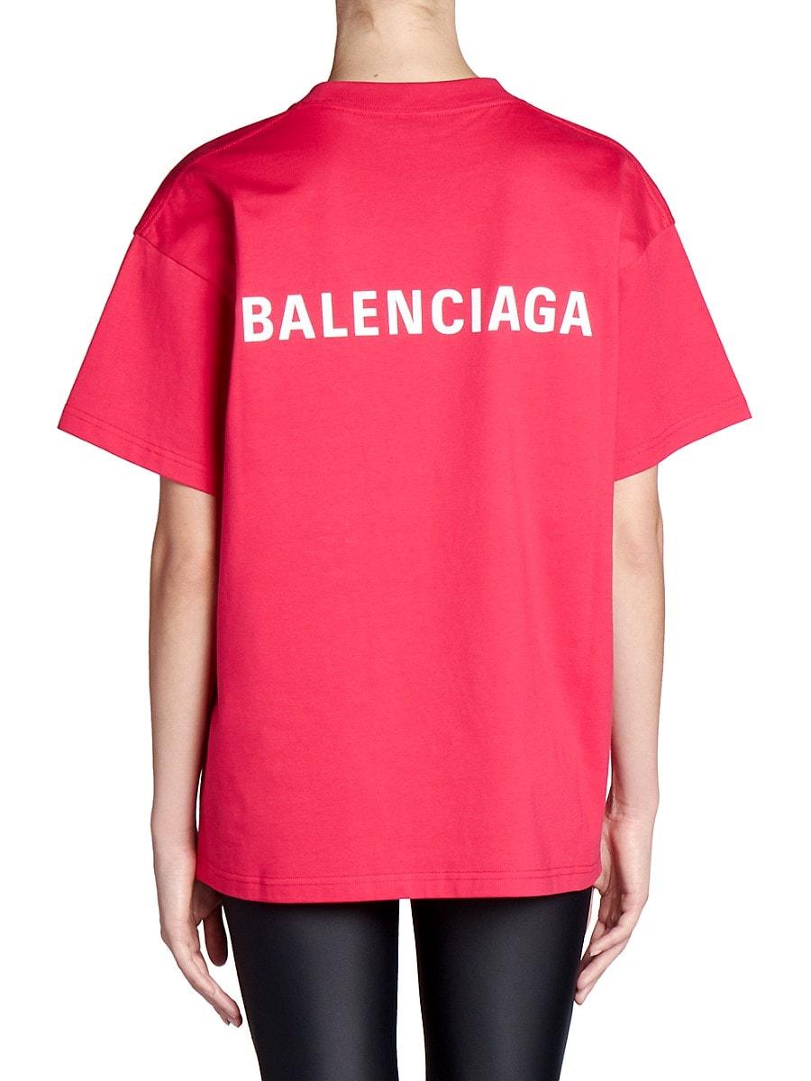 BALENCIAGA Cottons WOMEN'S LOGO T-SHIRT