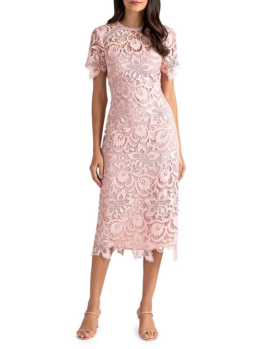 SHOSHANNA Maxi dresses WOMEN'S KIRIYA LACE SHEATH DRESS