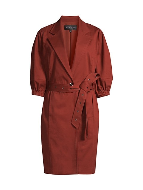 Lantern Cocoon Belted Coat