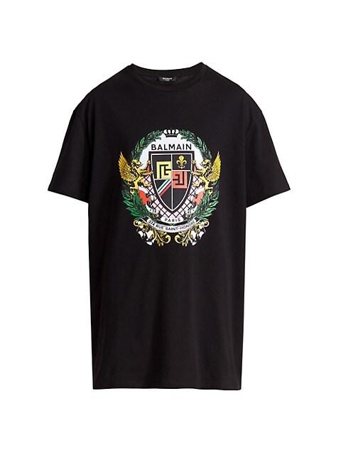 Balmain Logo Graphic Print T-Shirt