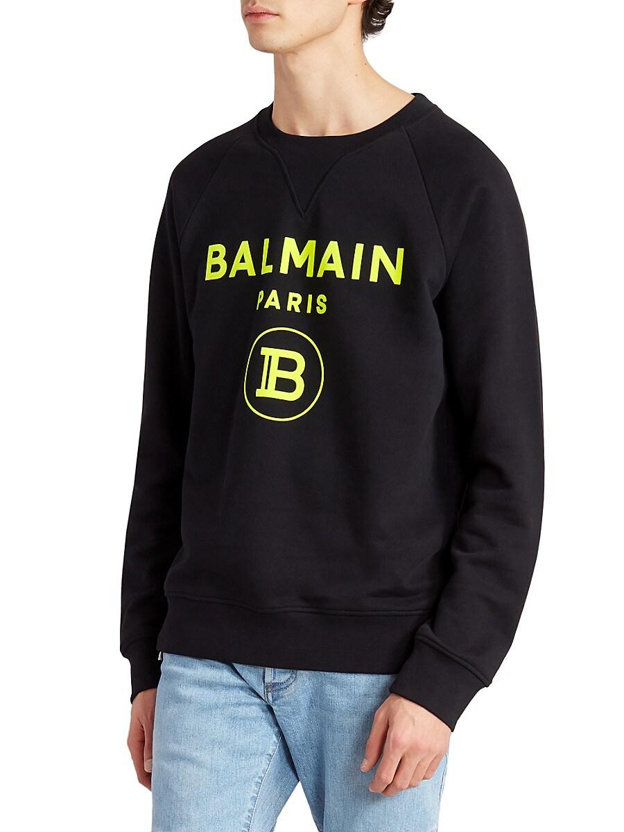 BALMAIN Cottons COIN LOGO SWEATSHIRT