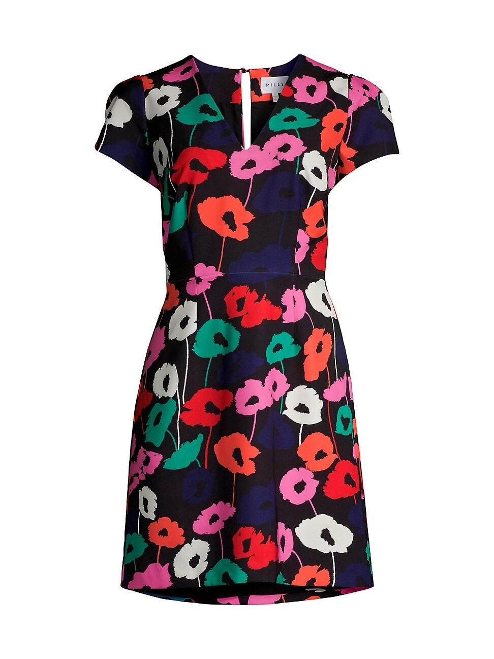 Milly Dresses WOMEN'S ATALIE POPPY PRINT SHEATH DRESS