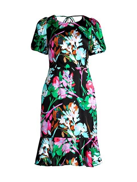 Liora Neon Floral Dress