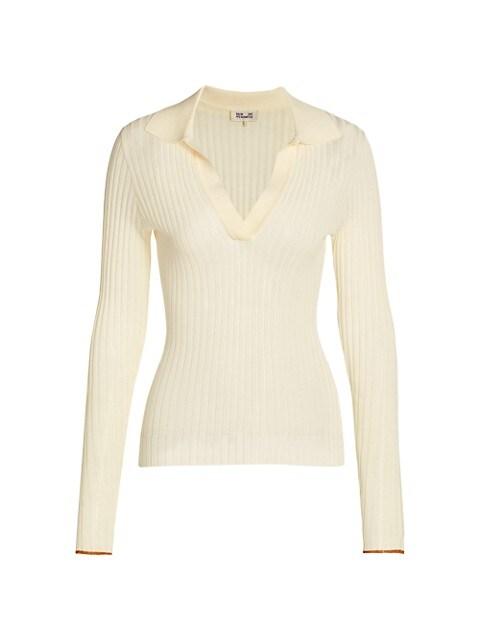 Ceara Rib-Knit Long-Sleeve T-Shirt
