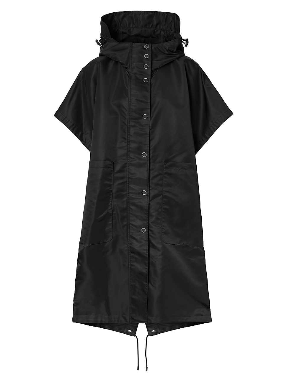 Burberry Capes WOMEN'S HORSEFERRY PRINT RECYCLED NYLON HOODED CAPE