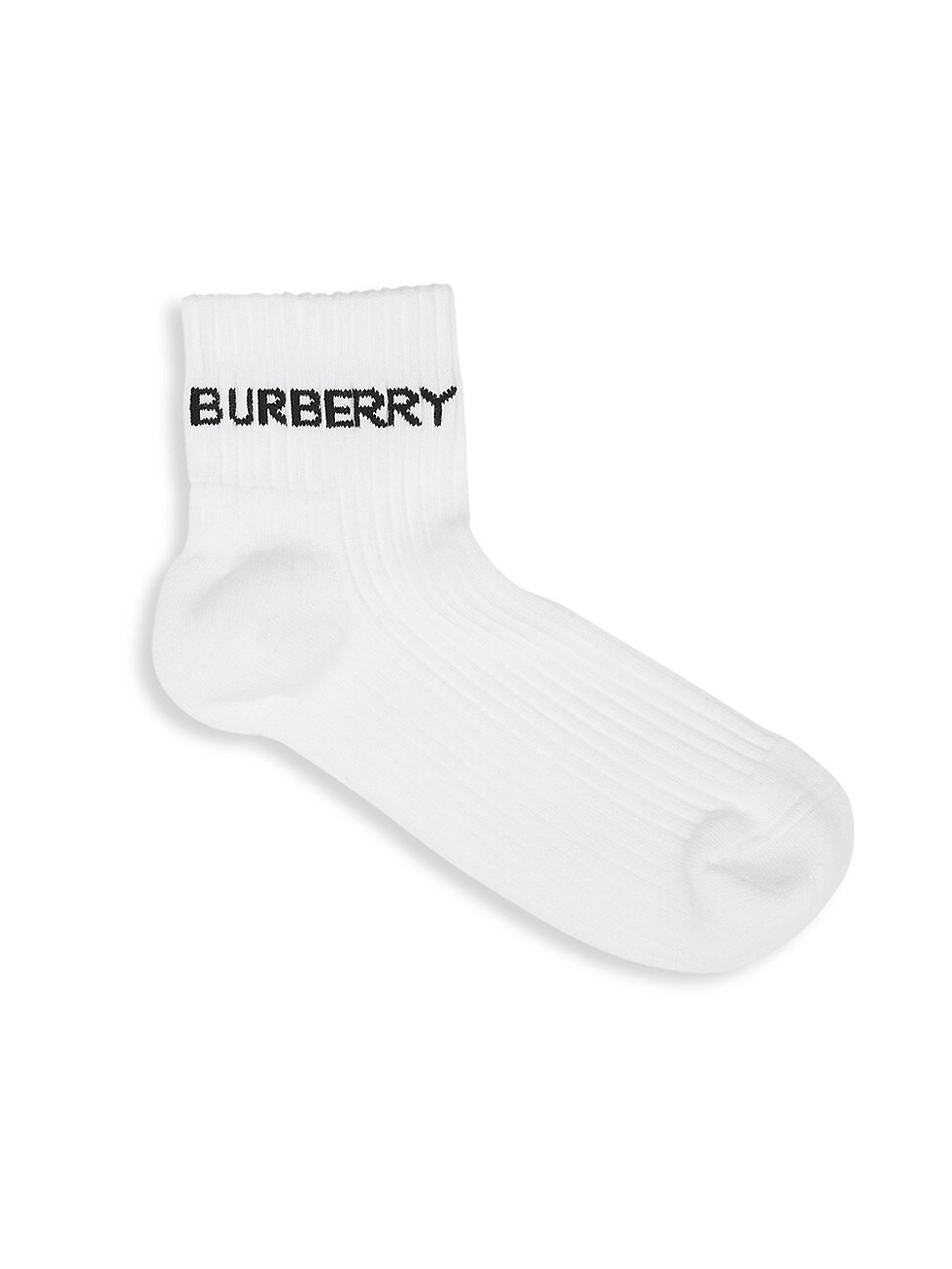 Burberry WOMEN'S LOGO INTARSIA TECHNICAL STRETCH COTTON ANKLE SOCKS