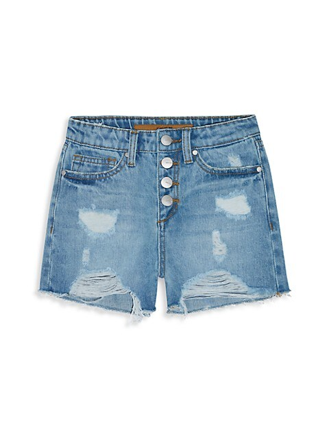 Girl's The Mia Distressed Denim Shorts