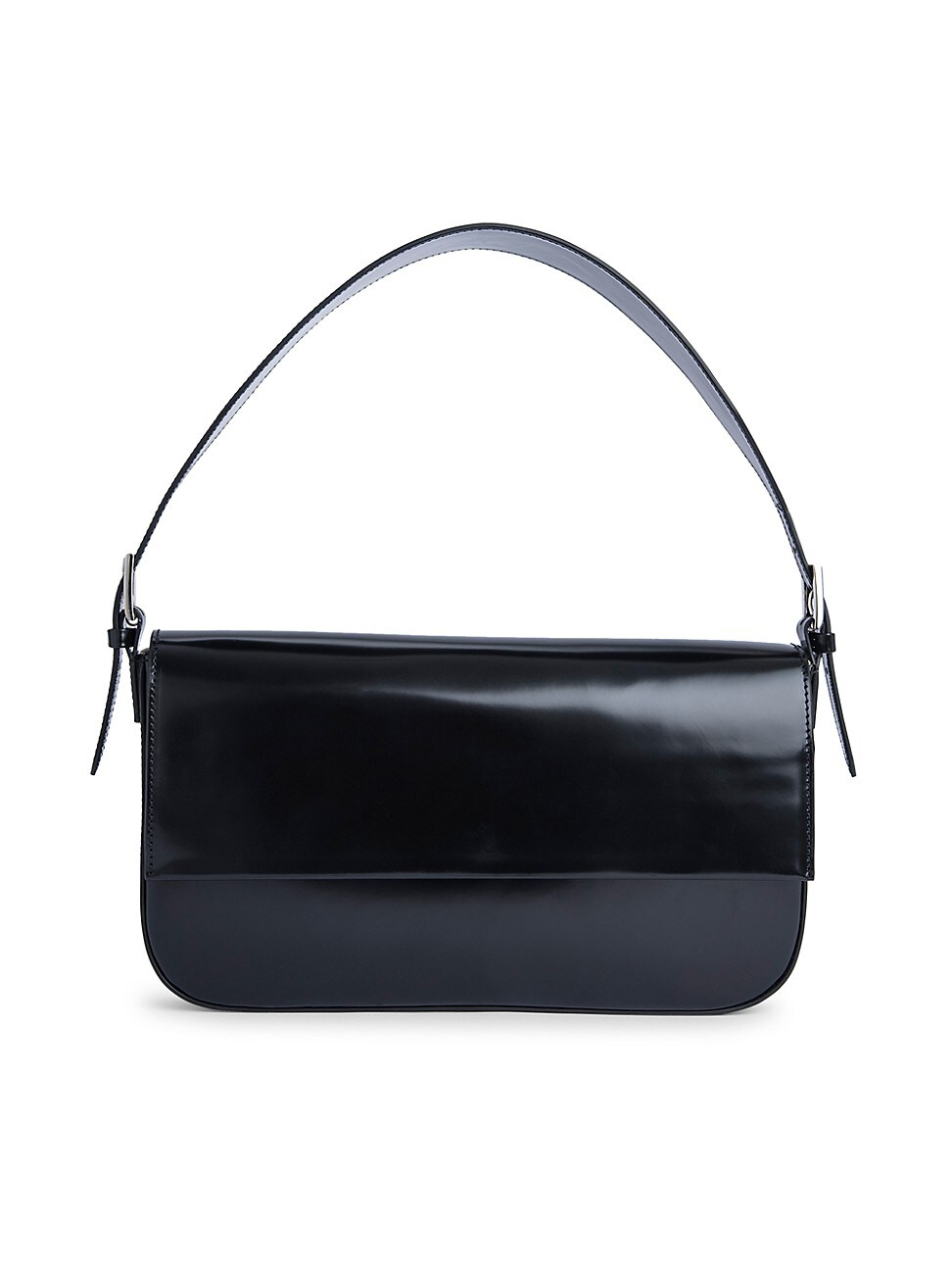 By Far WOMEN'S MANU SEMI-PATENT LEATHER SHOULDER BAG