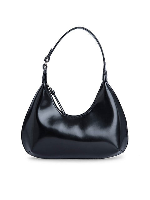 Baby Amber Semi-Patent Leather Shoulder Bag