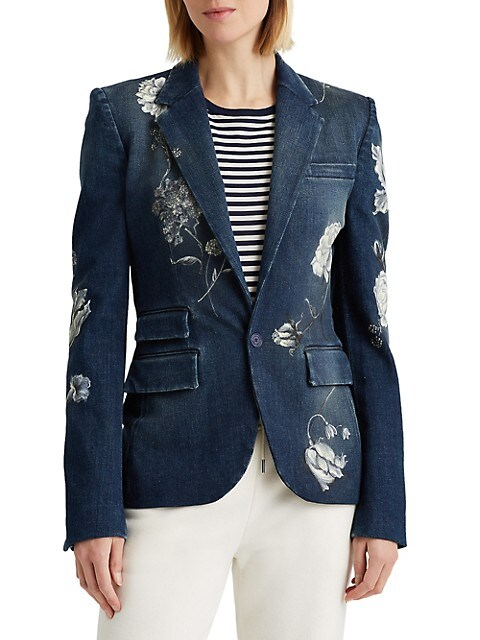 Calan Floral Denim Jacket