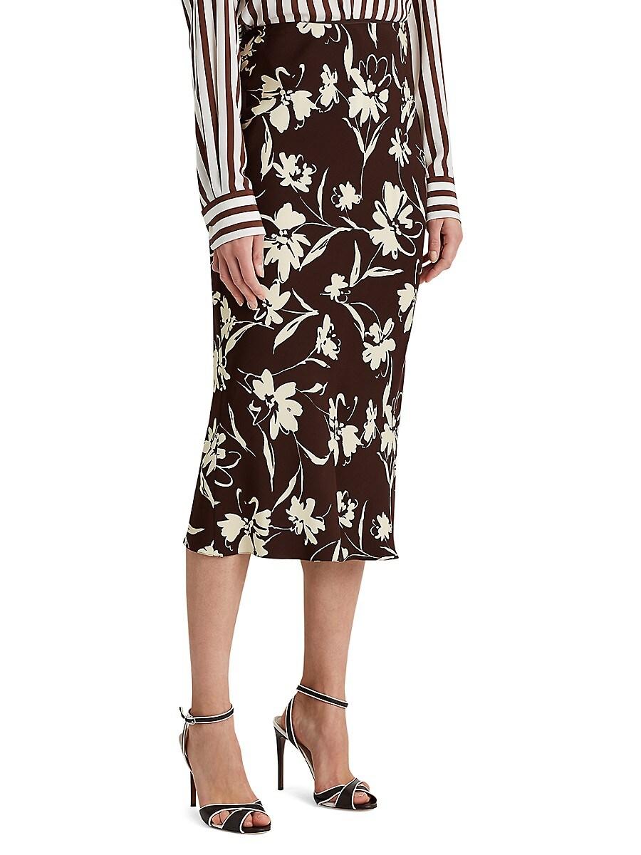 RALPH LAUREN Skirts WOMEN'S KAELA FLORAL CADY SKIRT
