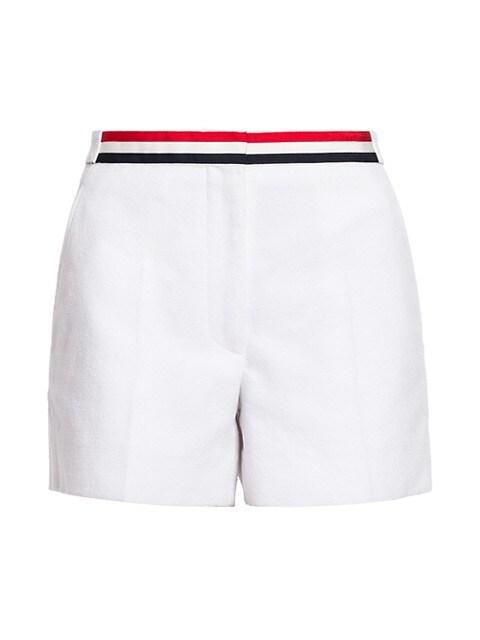 Grosgrain-Trimmed Cotton Shorts