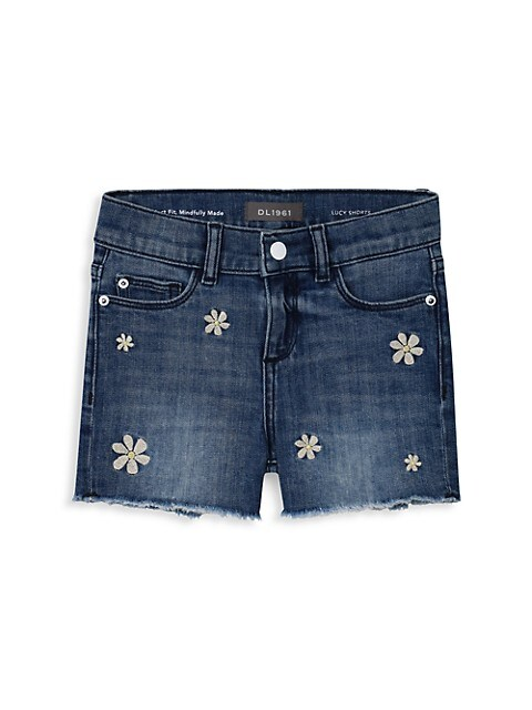 Little Girl's & Girl's Lucy Denim Cut-Off Shorts