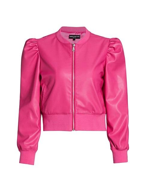 Tinsley Faux-Leather Bomber Jacket