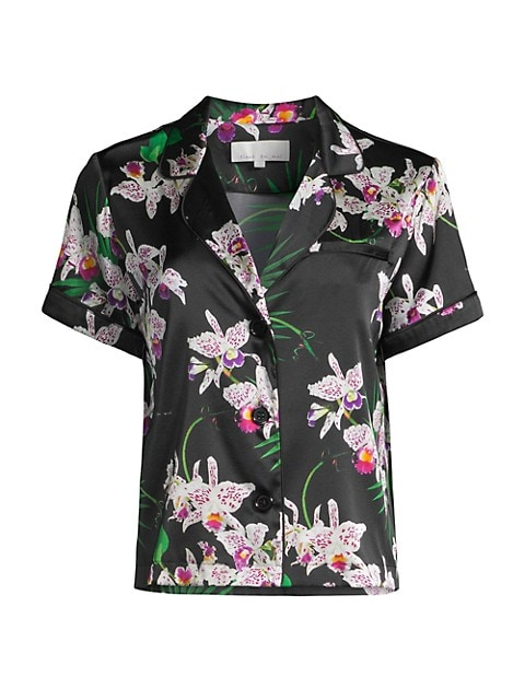 Orchid Silk Pajama Top
