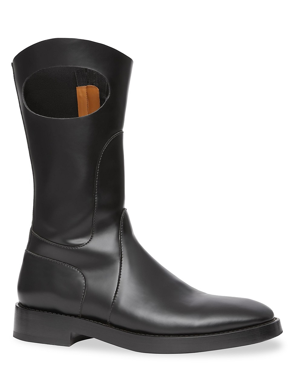 Burberry MEN'S POCKET LEATHER MID-CALF BOOTS
