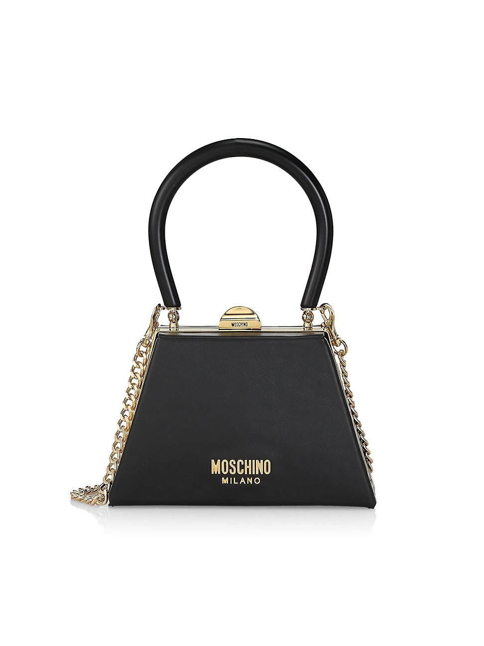 Moschino Leathers WOMEN'S FRAME LEATHER SHOULDER BAG