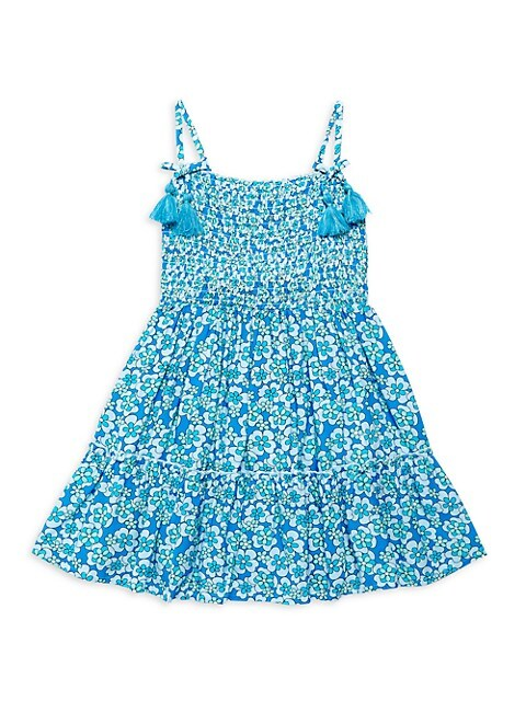 Little Girl's & Girl's Floral Smocked A-Line Dress