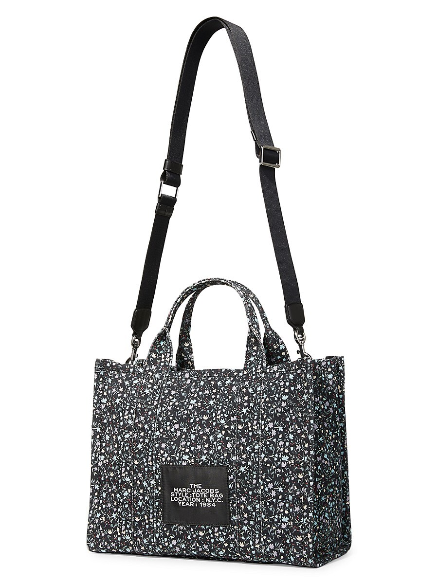 THE MARC JACOBS Canvases WOMEN'S SMALL TRAVELER FLORAL CANVAS TOTE