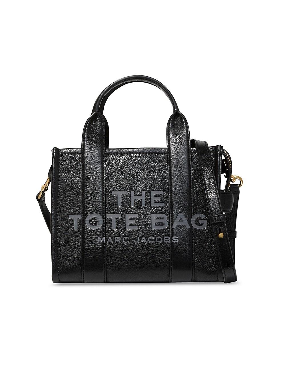 마크 제이콥스 토트백 Marc Jacobs Mini Traveler Leather Tote,BLACK
