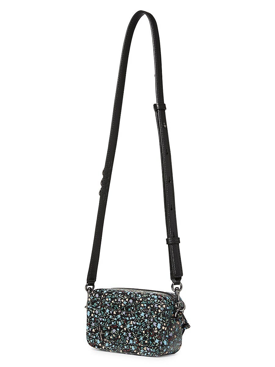 THE MARC JACOBS Leathers WOMEN'S THE SOFTSHOT FLORAL LEATHER CAMERA BAG