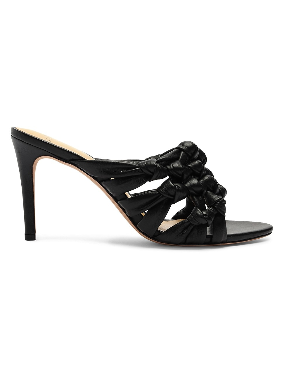 Alexandre Birman WOMEN'S SOLANGE INTRECCIO LEATHER MULE SANDALS