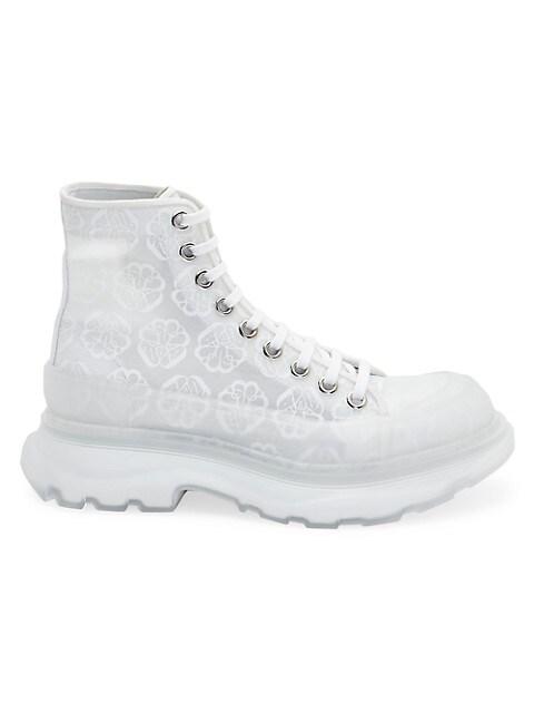 Tread Slick Transparent Floral Boots