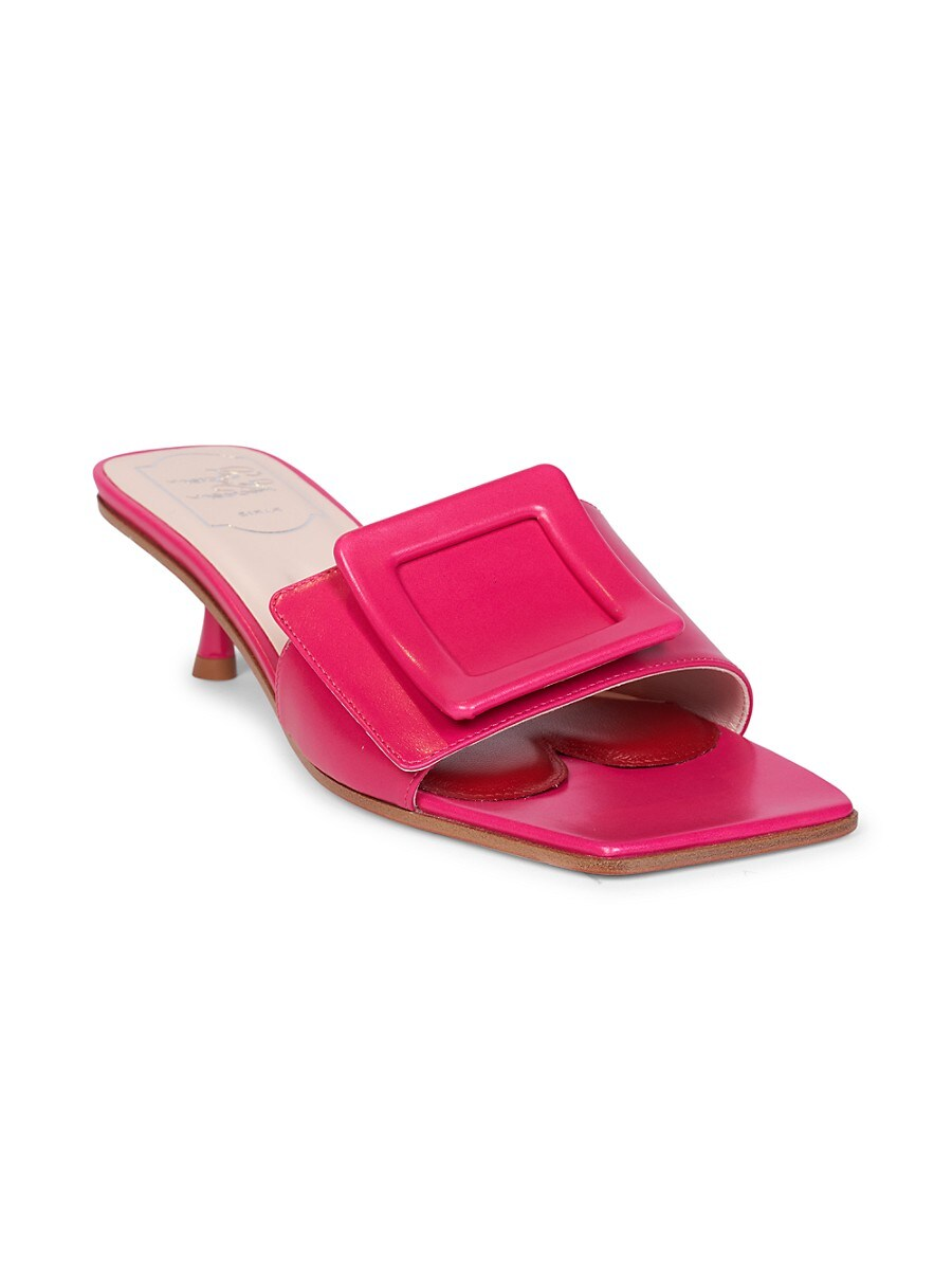 ROGER VIVIER Leathers WOMEN'S LEATHER MULES