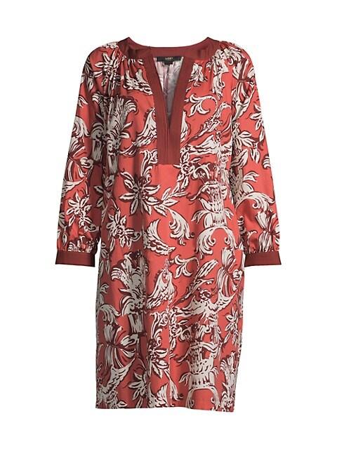 Floral Poplin Tunic Dress