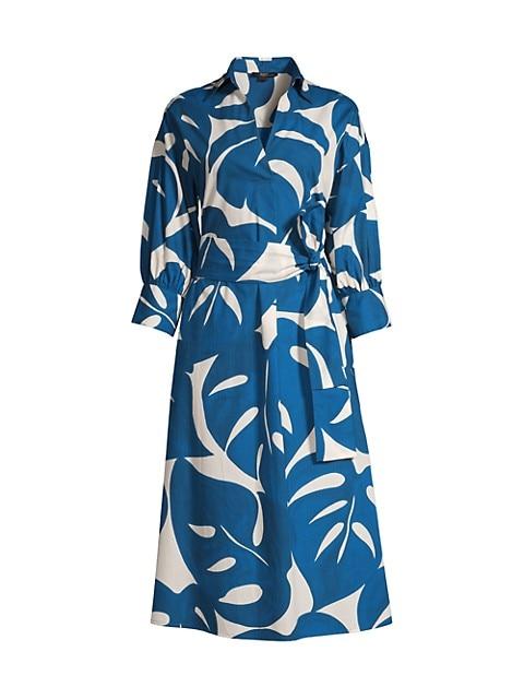 Floral Printed Poplin Dress