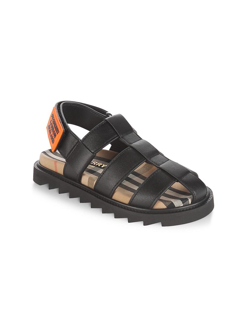 Burberry Little Kids & Kids Brightling Leather Sandals