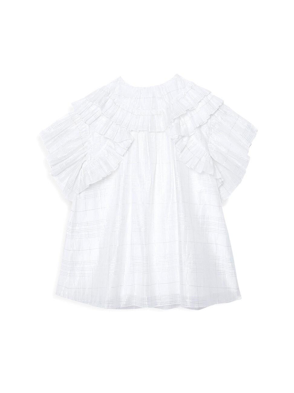Burberry LITTLE GIRL'S & GIRL'S JEMINA RUFFLE DRESS