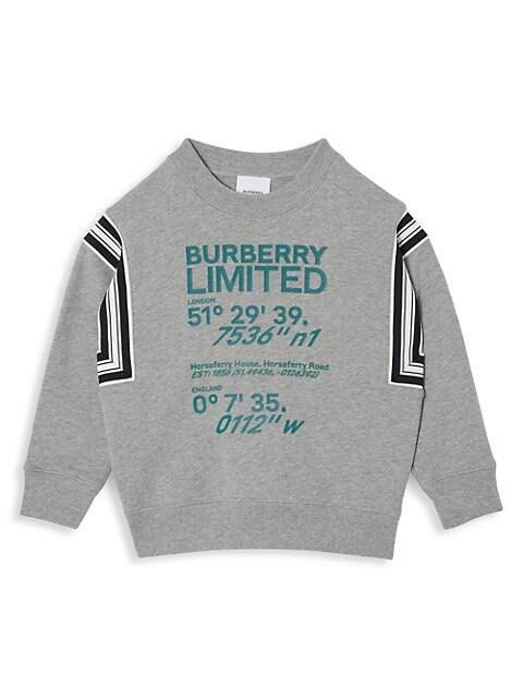 Little Kid's & Kid's Coordinates-Print Cotton Sweatshirt