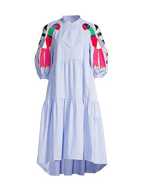 Bird Embroidered Dress