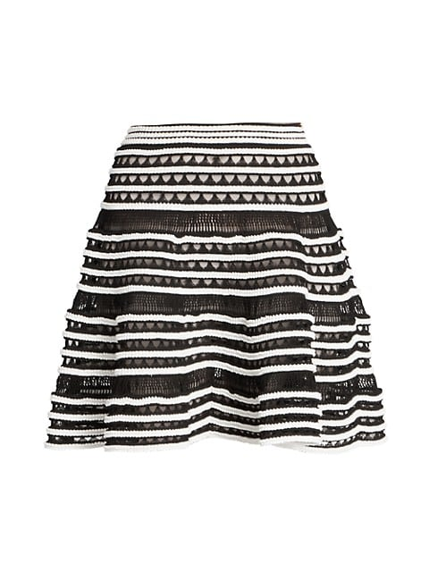 Crochet Tiered Knit Skirt