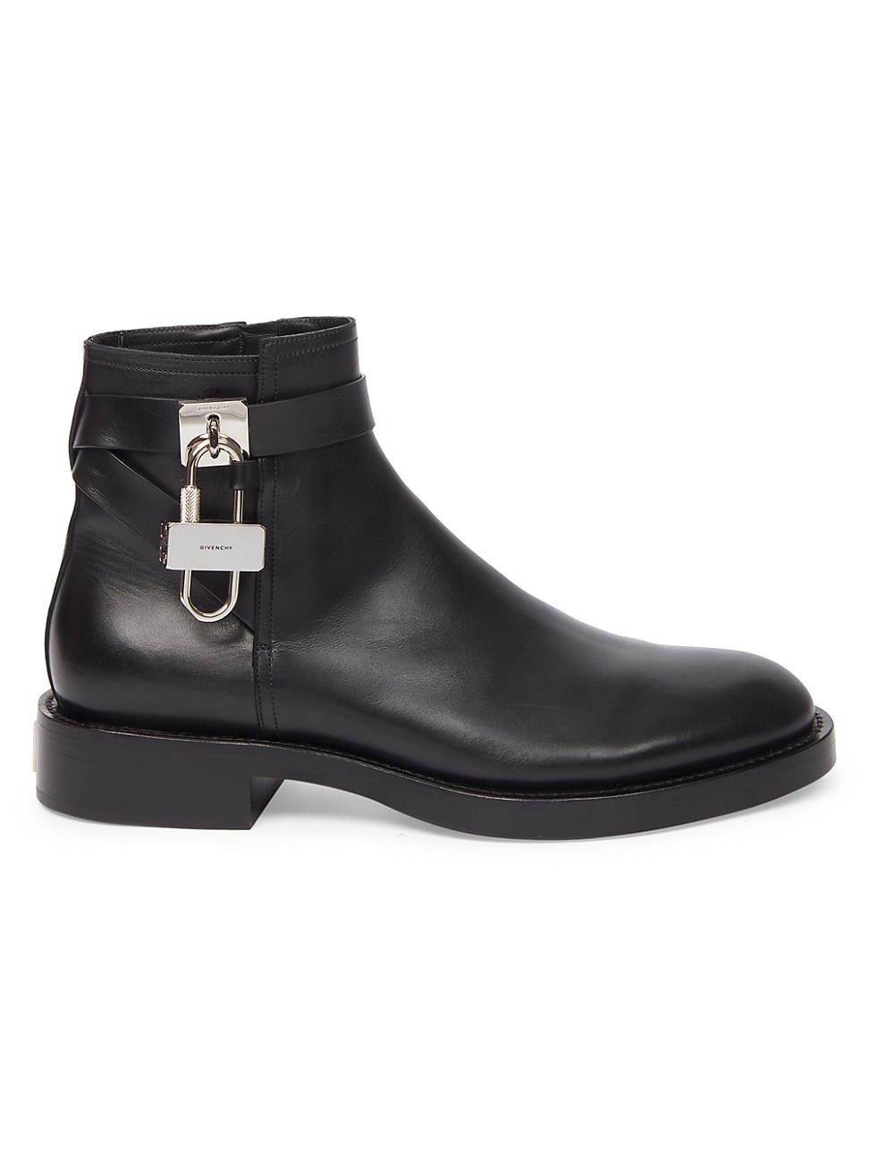 Givenchy Boots MEN'S THE LOCK LEATHER ANKLE BOOTS