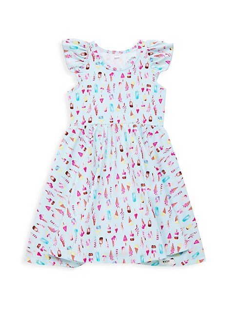 Little Girl's & Girl's Ice Cream Ruffle Twirly Dress